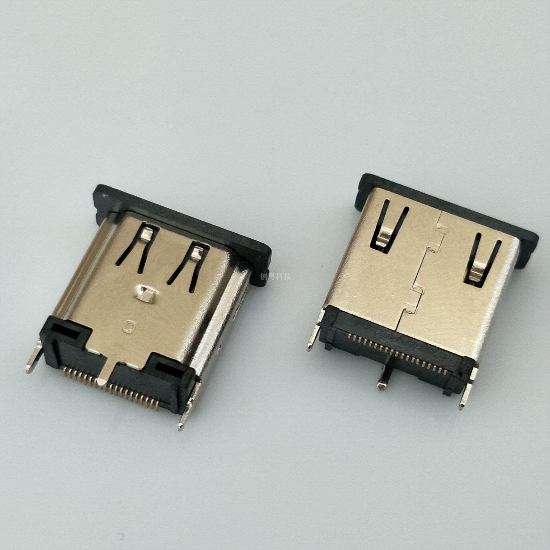 HDMI 立贴母座,