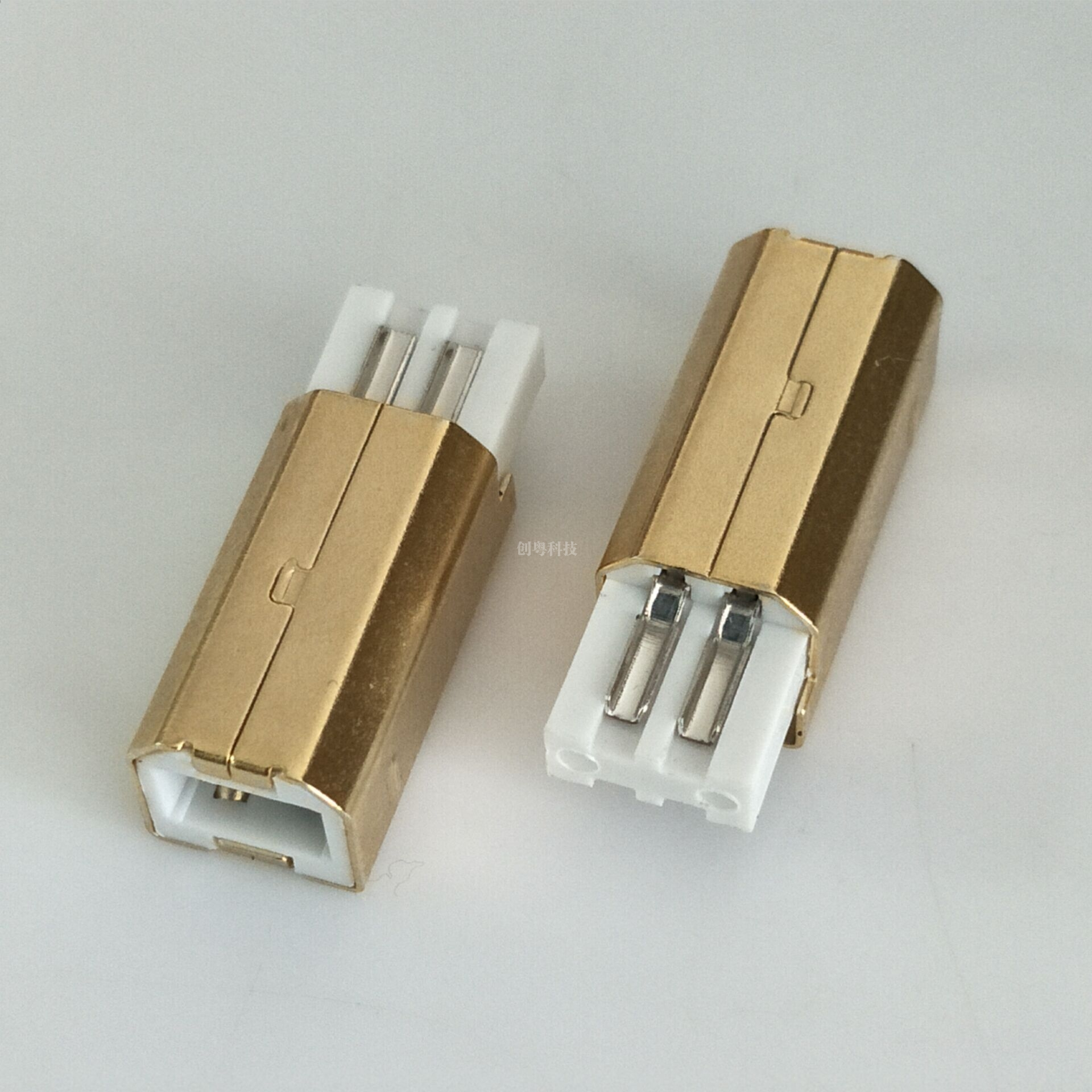 USB B公焊线短体