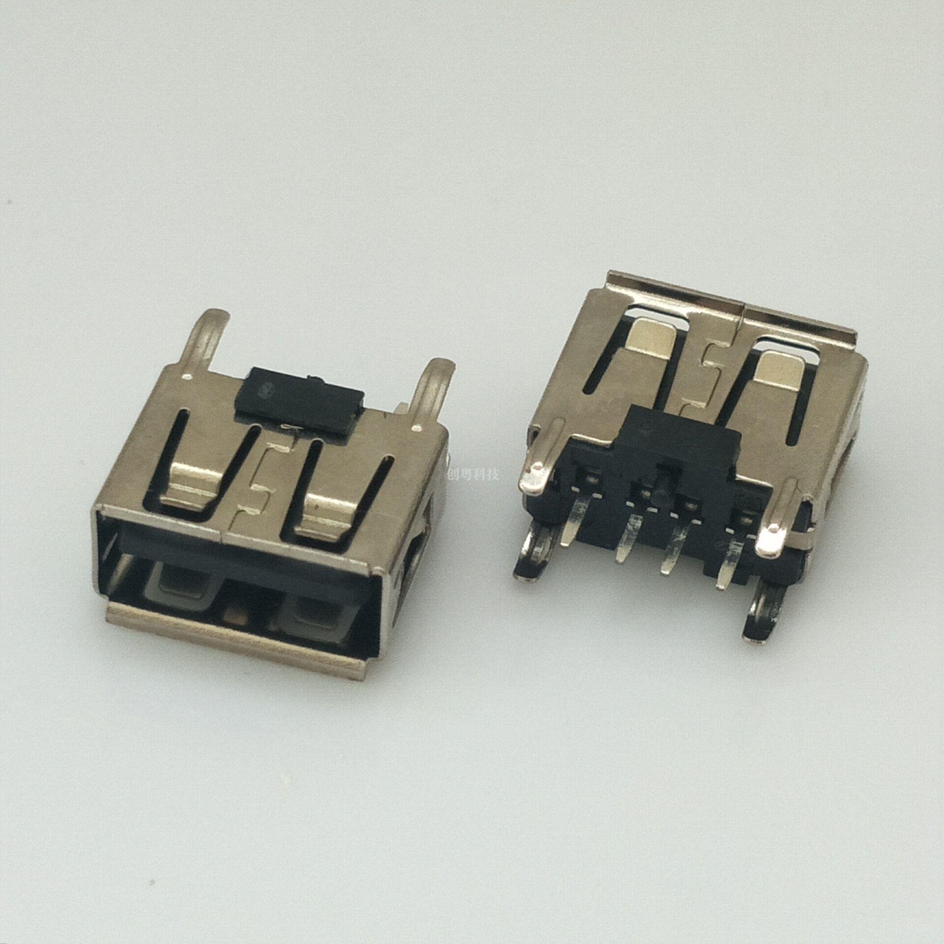 USB短体母座