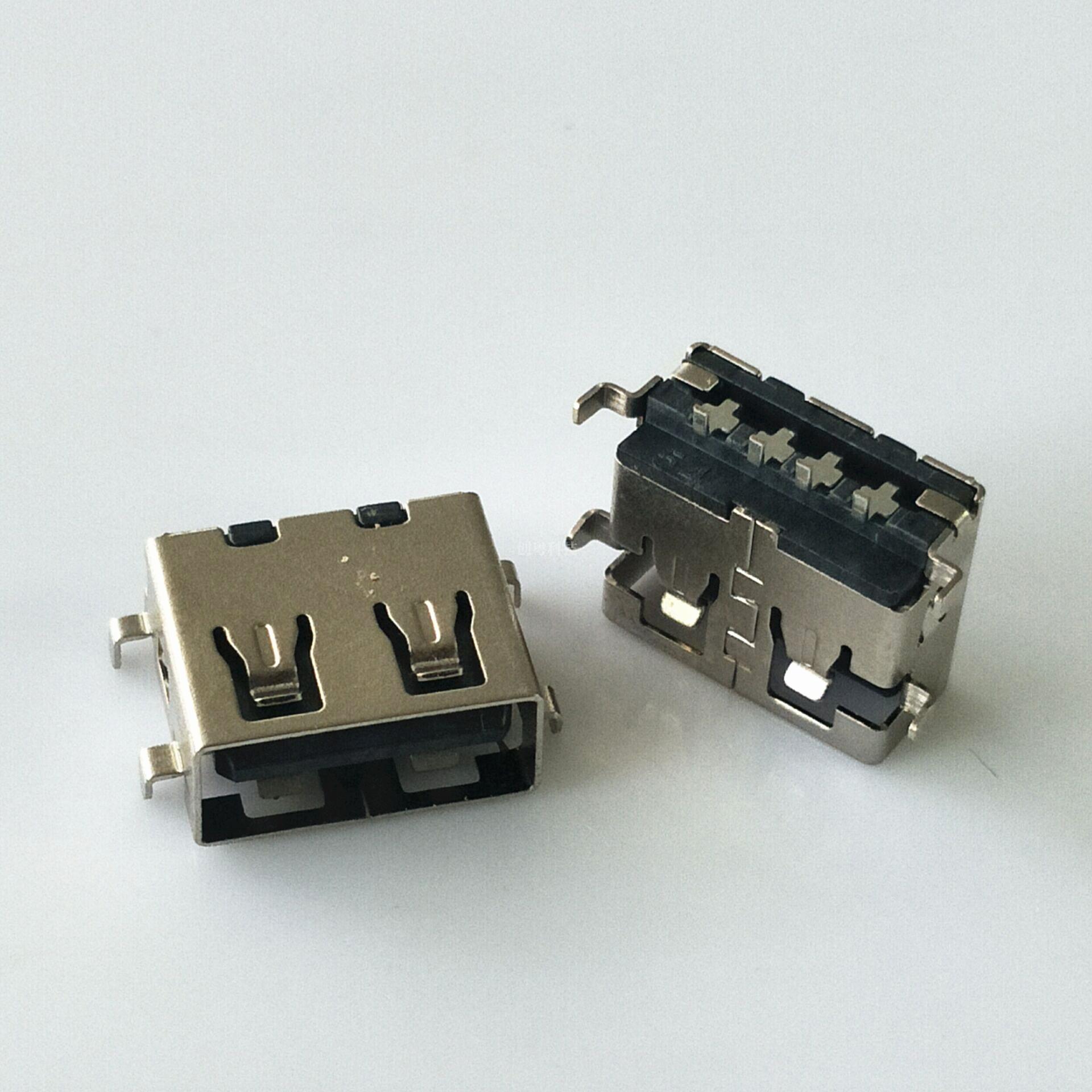 USB短体沉板母座