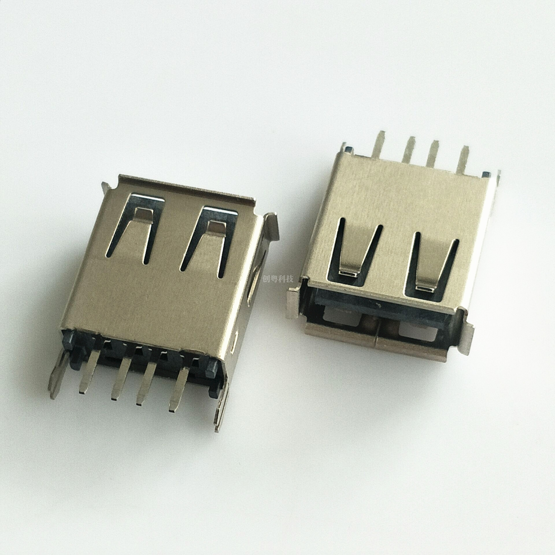 USB立式直插母座