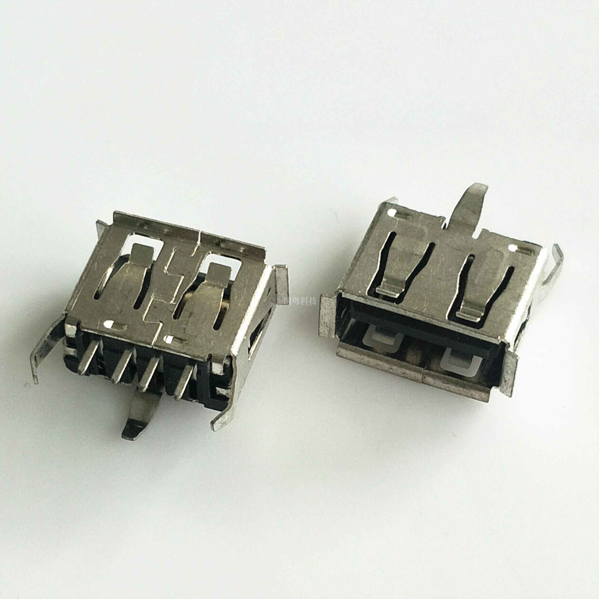 USB三脚直插母座