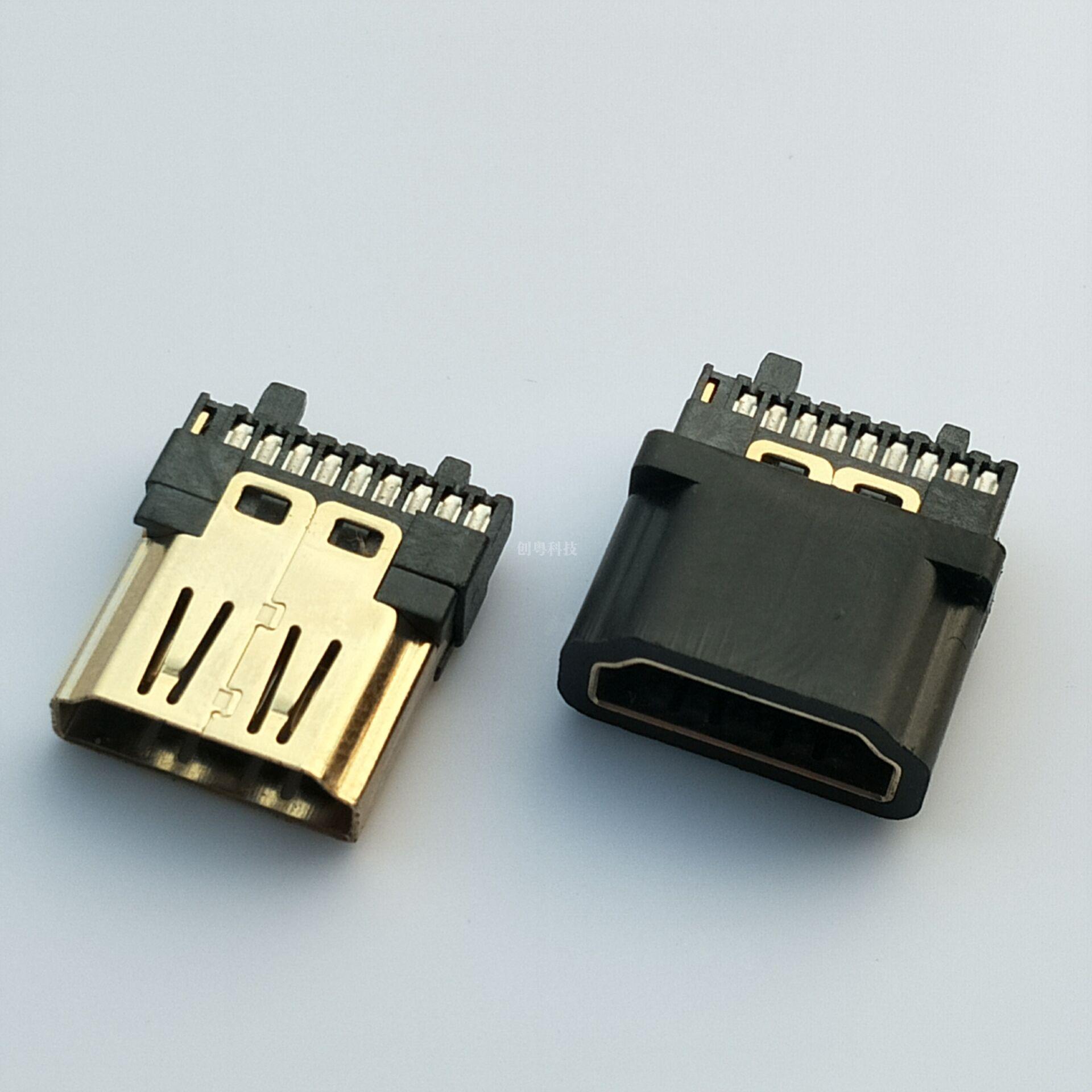 HDMI焊线母座