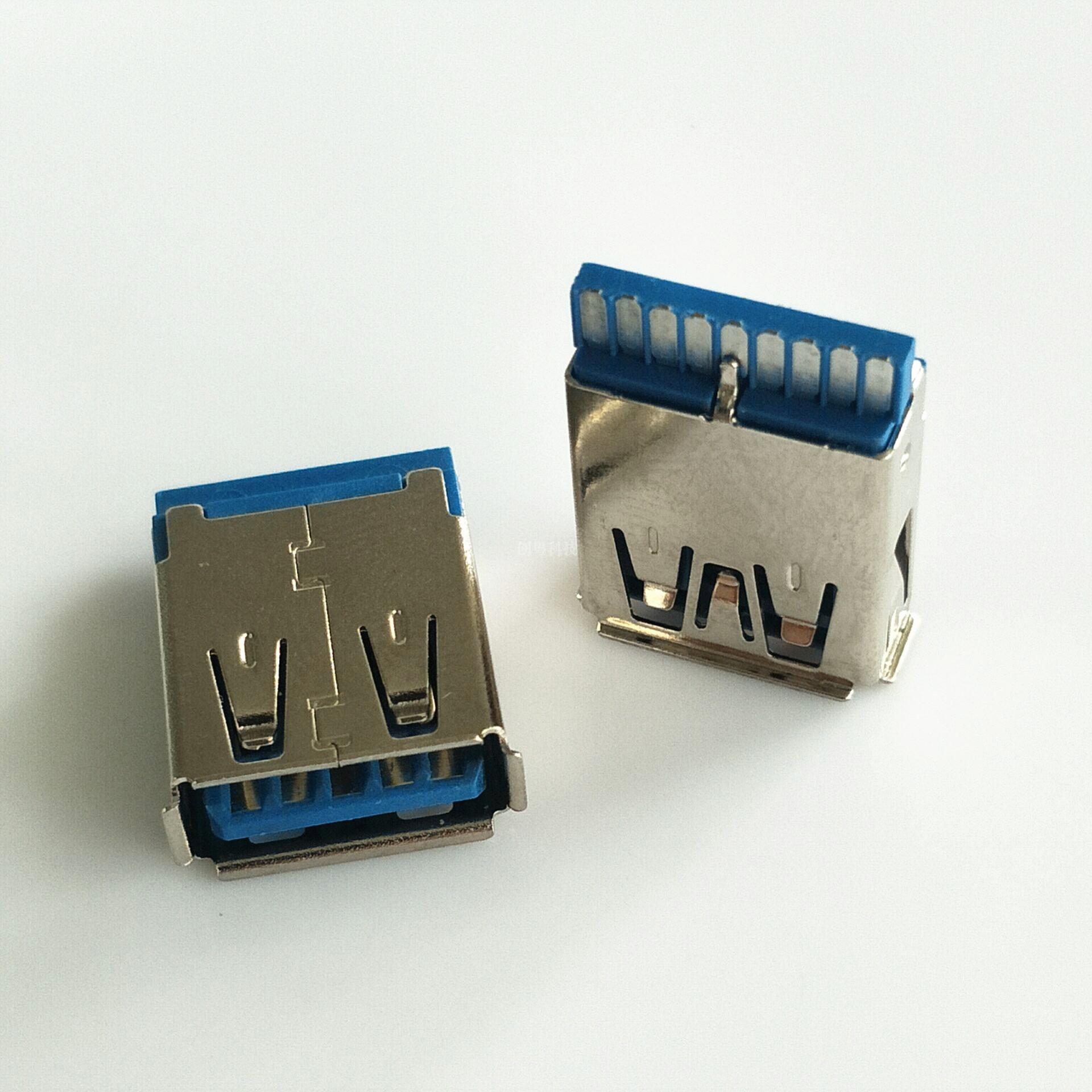USB 3.0 焊线母座