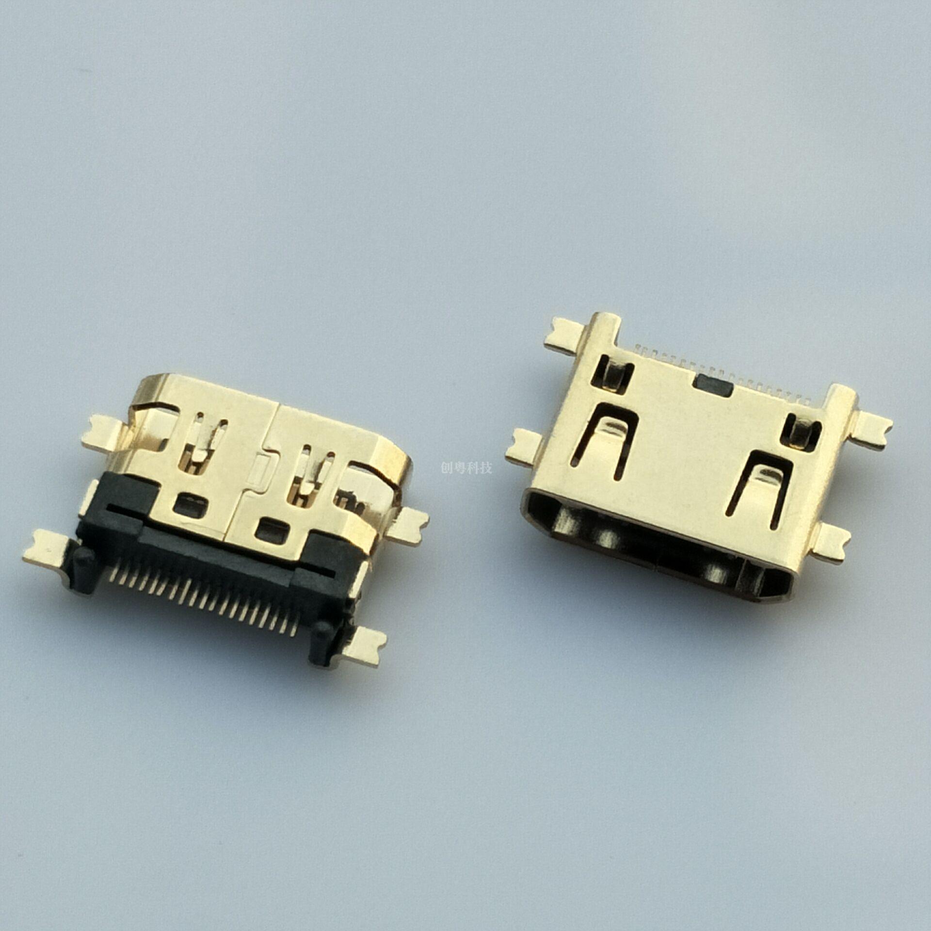 MINI HDMI沉板母座