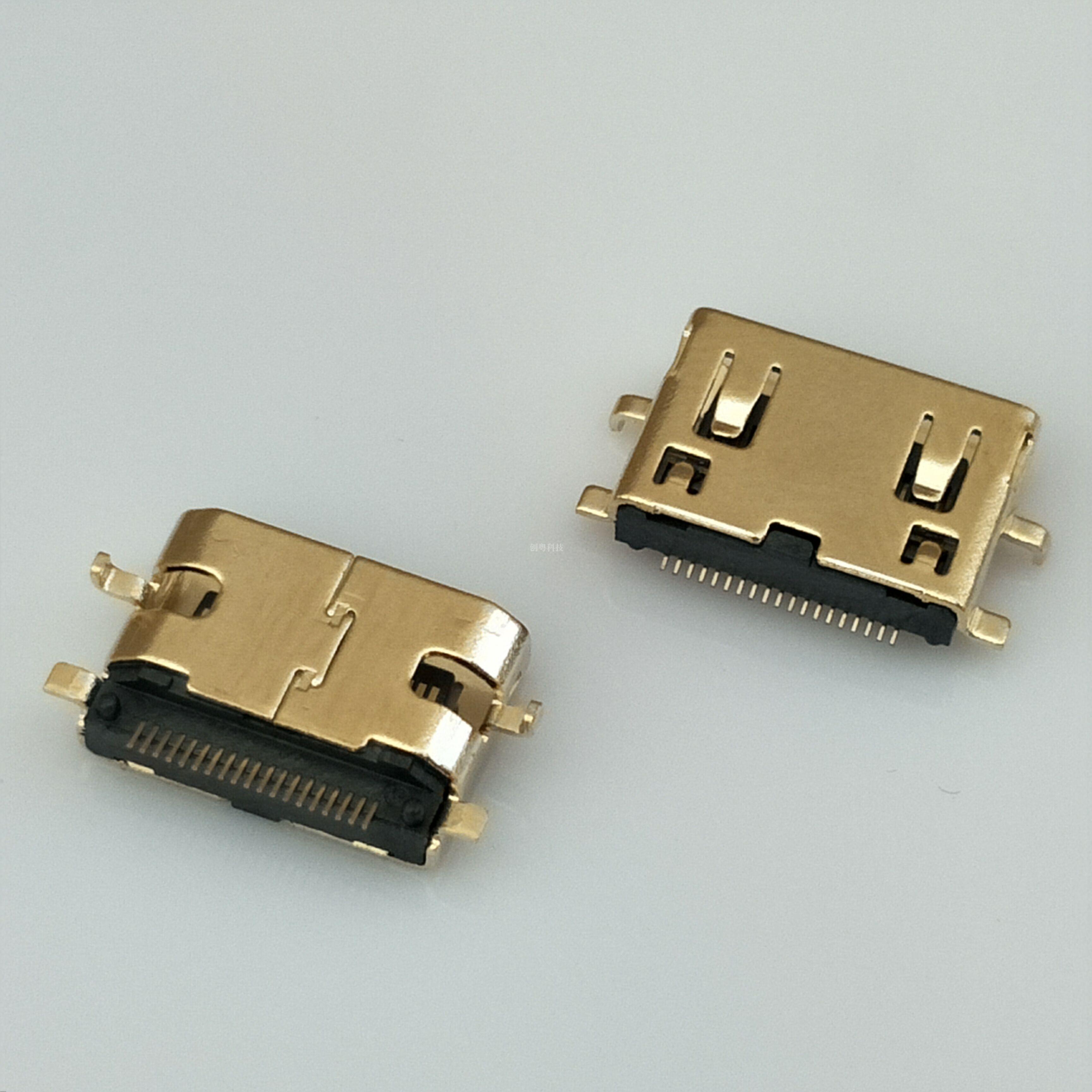 迷你HDMI沉板母座