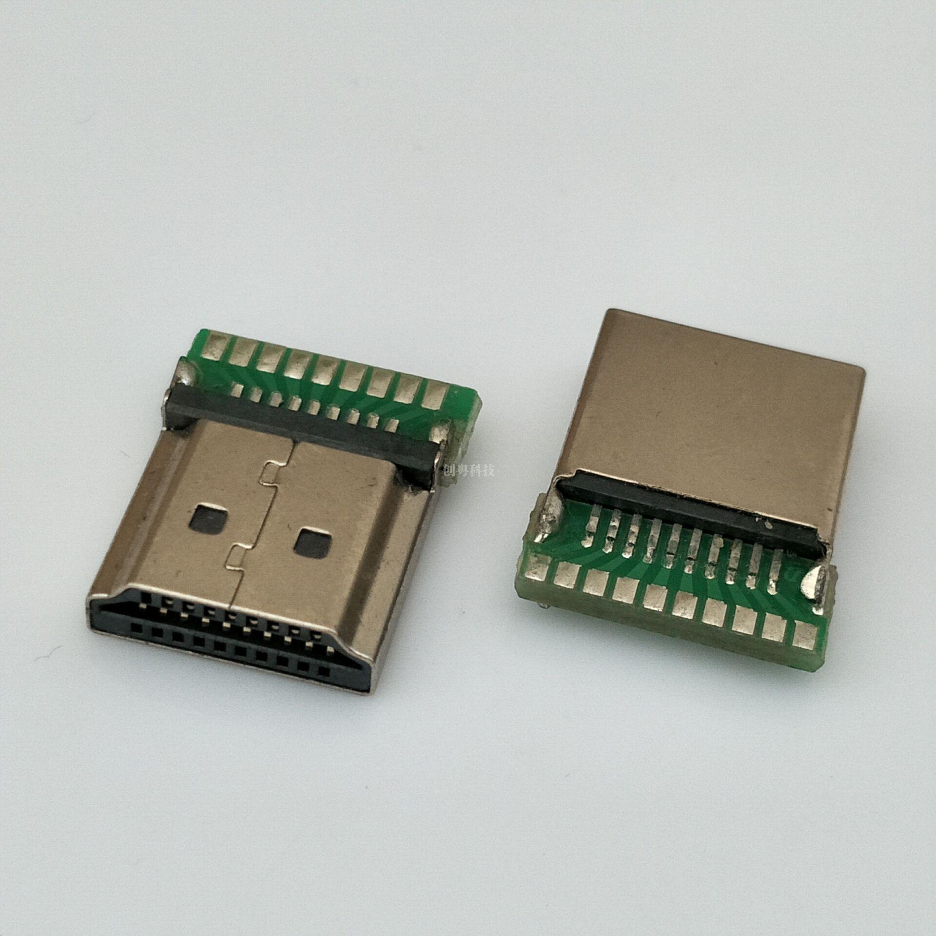 HDMI夹板公头
