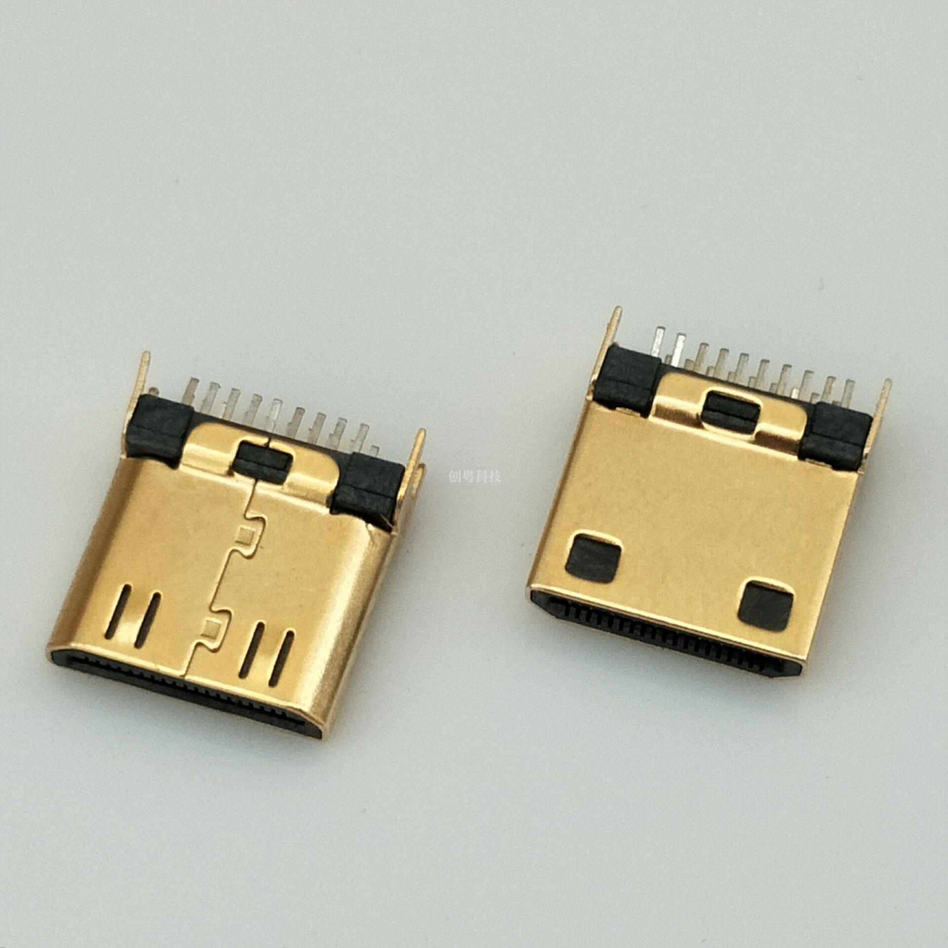 HDMI夹板连接器