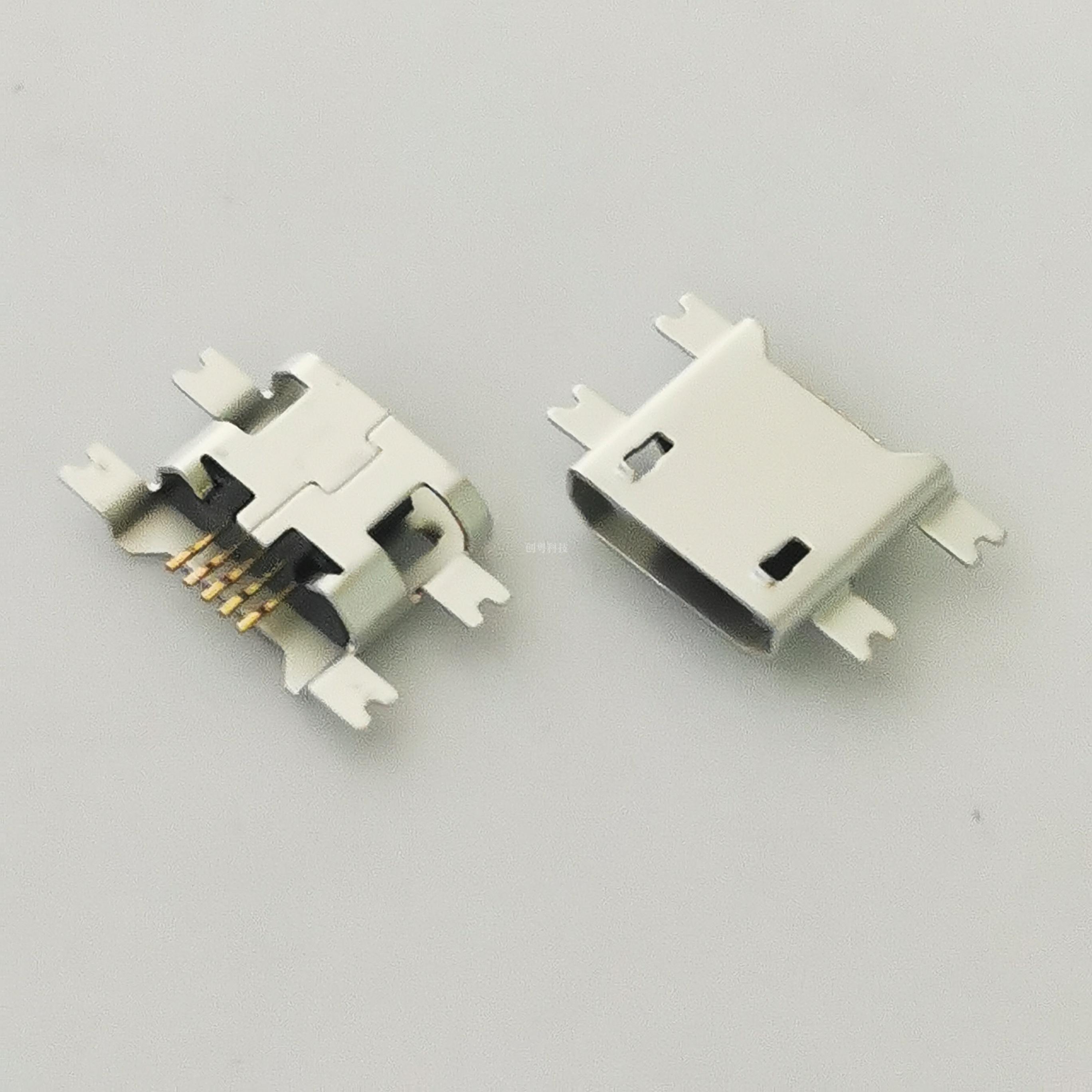 MICRO USB破板母座