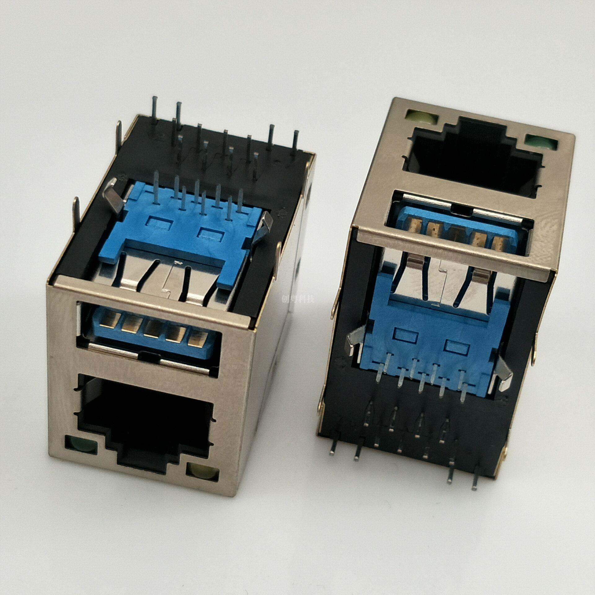 USB3.0母座+RJ45
