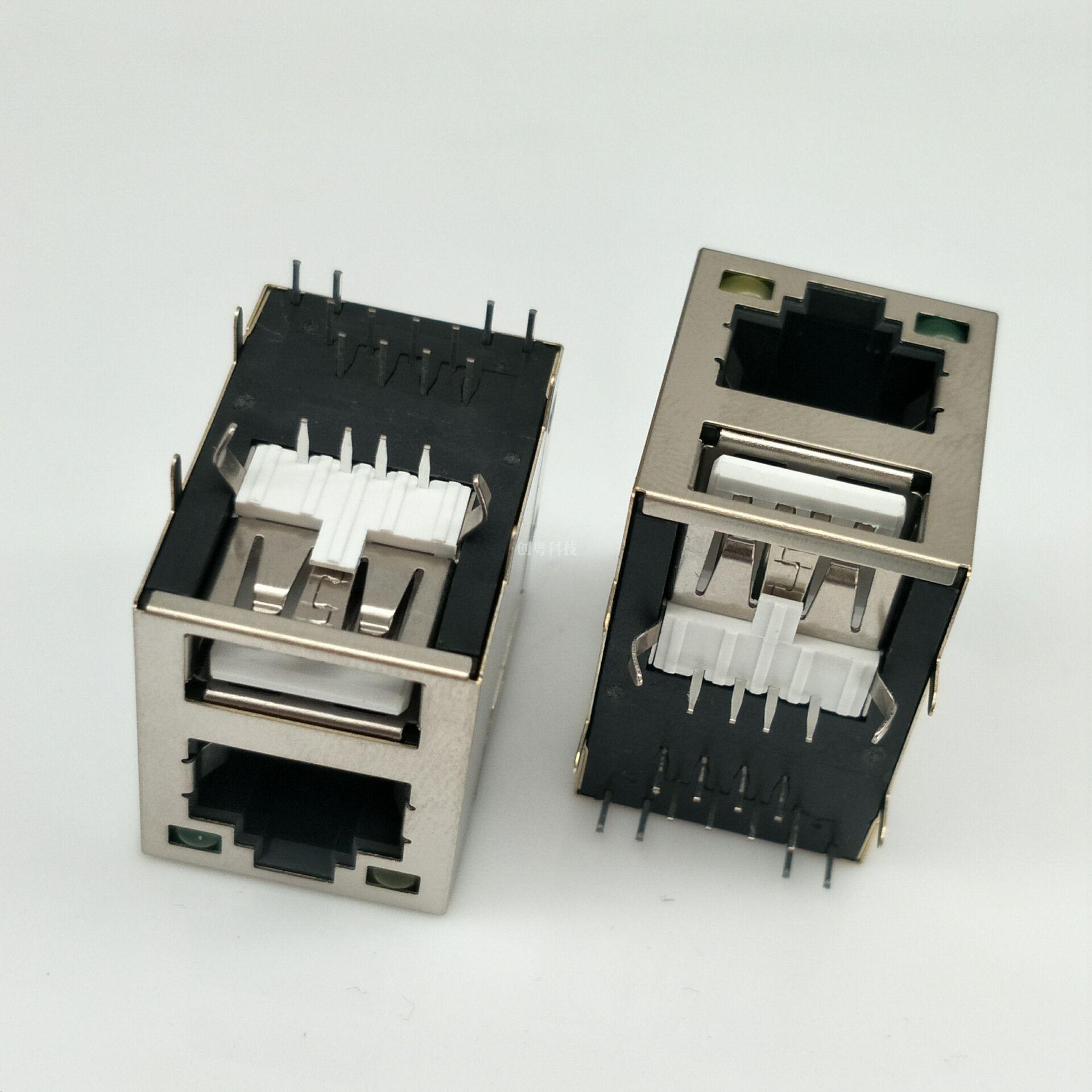 USB母座+RJ45网口
