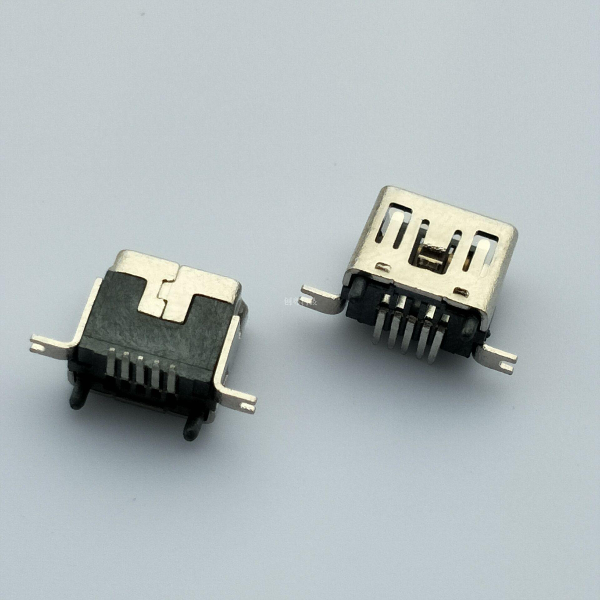 MINI USB 立贴母座